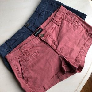 TWO pairs EXPRESS shorts, size 0